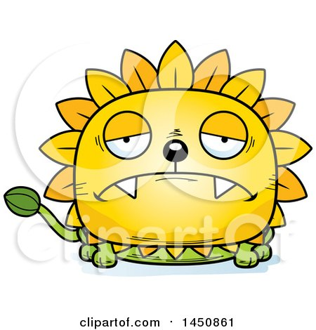 Clipart Graphic of a Cartoon Sad Dandelion Character Mascot - Royalty Free Vector Illustration by Cory Thoman