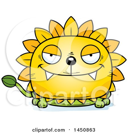Clipart Graphic of a Cartoon Sly Dandelion Character Mascot - Royalty Free Vector Illustration by Cory Thoman