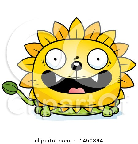 Clipart Graphic of a Cartoon Smiling Dandelion Character Mascot - Royalty Free Vector Illustration by Cory Thoman
