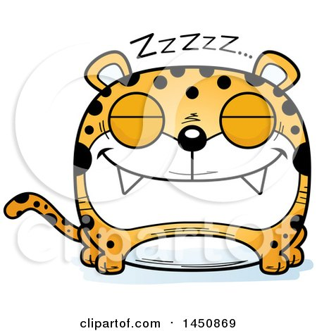 Clipart Graphic of a Cartoon Sleeping Leopard Character Mascot - Royalty Free Vector Illustration by Cory Thoman