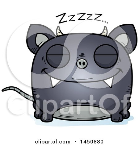 Clipart Graphic of a Cartoon Sleeping Chupacabra Character Mascot - Royalty Free Vector Illustration by Cory Thoman