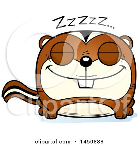 Clipart Graphic of a Cartoon Sleeping Chipmunk Character Mascot - Royalty Free Vector Illustration by Cory Thoman