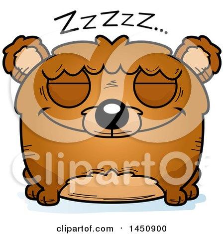 Clipart Graphic of a Cartoon Sleeping Bear Character Mascot - Royalty Free Vector Illustration by Cory Thoman
