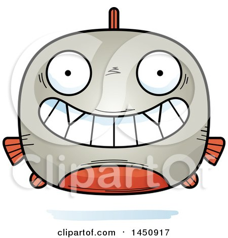 Clipart Graphic of a Cartoon Grinning Piranha Fish Character Mascot - Royalty Free Vector Illustration by Cory Thoman