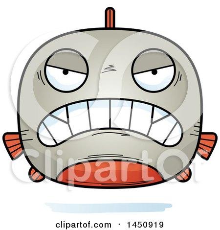 Clipart Graphic of a Cartoon Mad Piranha Fish Character Mascot - Royalty Free Vector Illustration by Cory Thoman