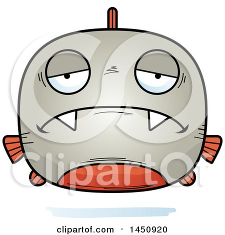 Clipart Graphic of a Cartoon Sad Piranha Fish Character Mascot - Royalty Free Vector Illustration by Cory Thoman