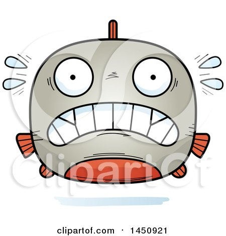 Clipart Graphic of a Cartoon Scared Piranha Fish Character Mascot - Royalty Free Vector Illustration by Cory Thoman