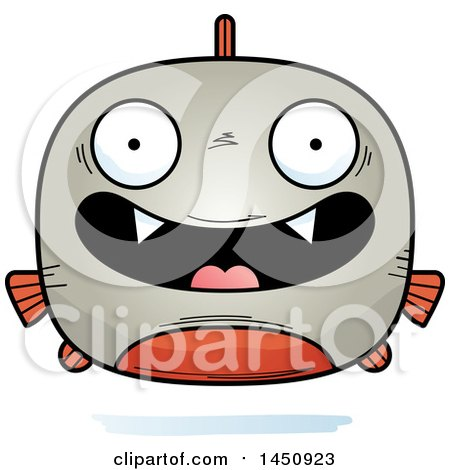 Clipart Graphic of a Cartoon Happy Piranha Fish Character Mascot - Royalty Free Vector Illustration by Cory Thoman