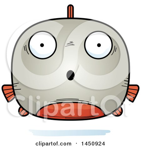 Clipart Graphic of a Cartoon Surprised Piranha Fish Character Mascot - Royalty Free Vector Illustration by Cory Thoman