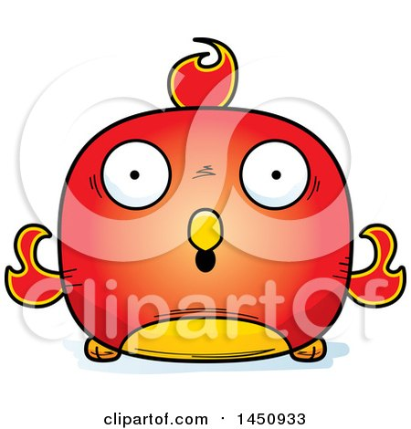 Clipart Graphic of a Cartoon Surprised Phoenix Character Mascot - Royalty Free Vector Illustration by Cory Thoman