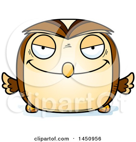 Clipart Graphic of a Cartoon Evil Owl Character Mascot - Royalty Free Vector Illustration by Cory Thoman