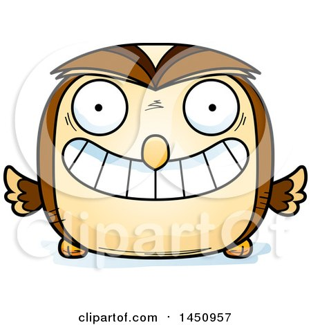 Clipart Graphic of a Cartoon Grinning Owl Character Mascot - Royalty Free Vector Illustration by Cory Thoman
