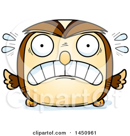 Clipart Graphic of a Cartoon Scared Owl Character Mascot - Royalty Free Vector Illustration by Cory Thoman