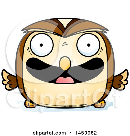 Clipart Graphic of a Cartoon Happy Owl Character Mascot - Royalty Free Vector Illustration by Cory Thoman