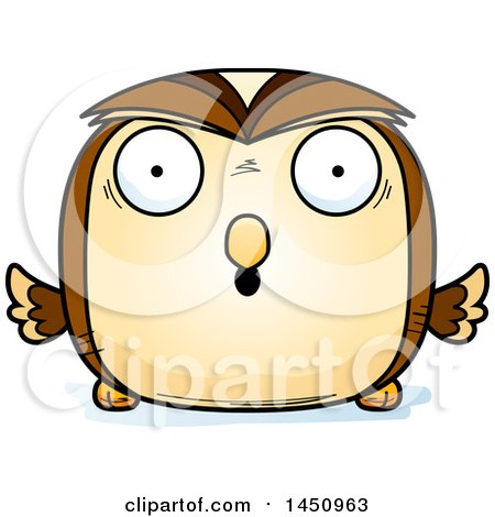 Clipart Graphic of a Cartoon Surprised Owl Character Mascot - Royalty Free Vector Illustration by Cory Thoman