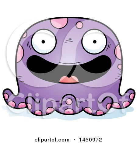Clipart Graphic of a Cartoon Happy Octopus Character Mascot - Royalty Free Vector Illustration by Cory Thoman