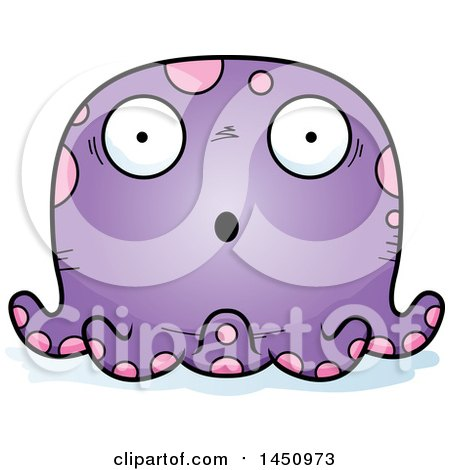 Clipart Graphic of a Cartoon Surprised Octopus Character Mascot - Royalty Free Vector Illustration by Cory Thoman