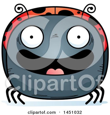 Clipart Graphic of a Cartoon Happy Ladybug Character Mascot - Royalty Free Vector Illustration by Cory Thoman