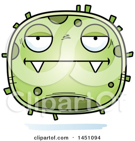 Clipart Graphic of a Cartoon Bored Germ Character Mascot - Royalty Free Vector Illustration by Cory Thoman