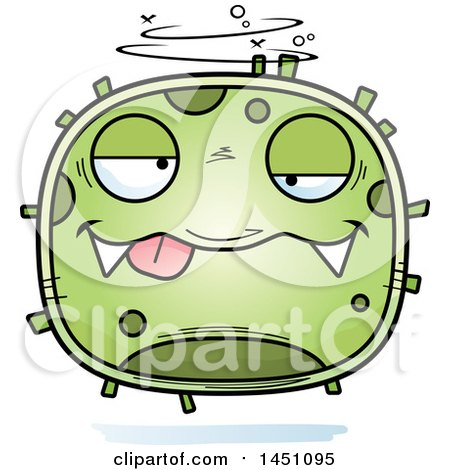 Clipart Graphic of a Cartoon Drunk Germ Character Mascot - Royalty Free Vector Illustration by Cory Thoman