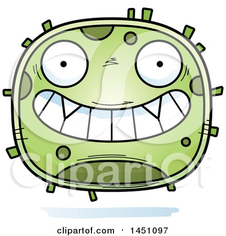 Clipart Graphic of a Cartoon Grinning Germ Character Mascot - Royalty Free Vector Illustration by Cory Thoman