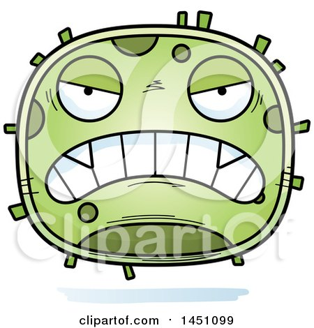 Clipart Graphic of a Cartoon Mad Germ Character Mascot - Royalty Free Vector Illustration by Cory Thoman