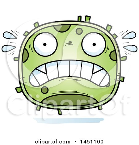 Clipart Graphic of a Cartoon Scared Germ Character Mascot - Royalty Free Vector Illustration by Cory Thoman