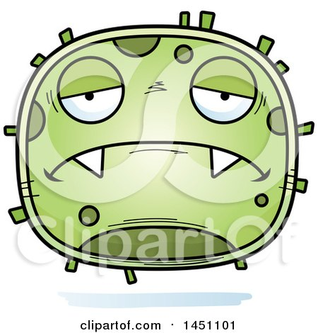 Clipart Graphic of a Cartoon Sad Germ Character Mascot - Royalty Free Vector Illustration by Cory Thoman