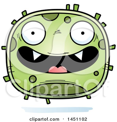 Clipart Graphic of a Cartoon Happy Germ Character Mascot - Royalty Free Vector Illustration by Cory Thoman
