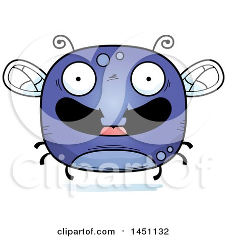 Clipart Graphic of a Cartoon Happy Fly Character Mascot - Royalty Free Vector Illustration by Cory Thoman