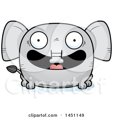 Clipart Graphic of a Cartoon Happy Elephant Character Mascot - Royalty Free Vector Illustration by Cory Thoman
