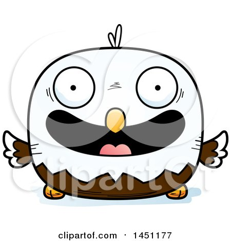 Clipart Graphic of a Cartoon Happy Bald Eagle Character Mascot - Royalty Free Vector Illustration by Cory Thoman