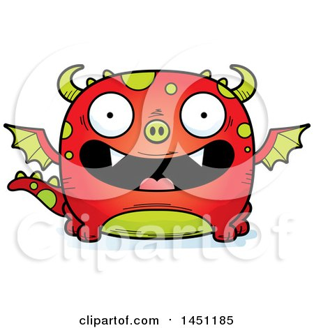 Clipart Graphic of a Cartoon Happy Dragon Character Mascot - Royalty Free Vector Illustration by Cory Thoman