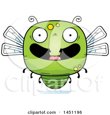Clipart Graphic of a Cartoon Happy Dragonfly Character Mascot - Royalty Free Vector Illustration by Cory Thoman