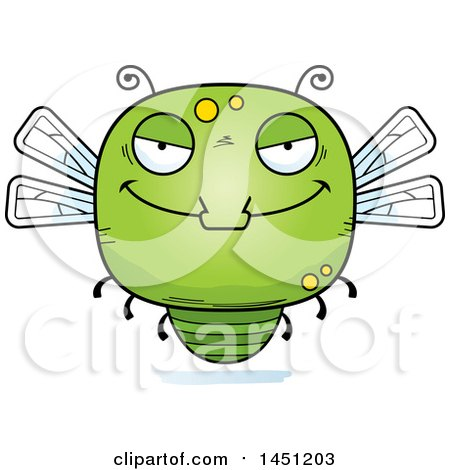 Clipart Graphic of a Cartoon Evil Dragonfly Character Mascot - Royalty Free Vector Illustration by Cory Thoman