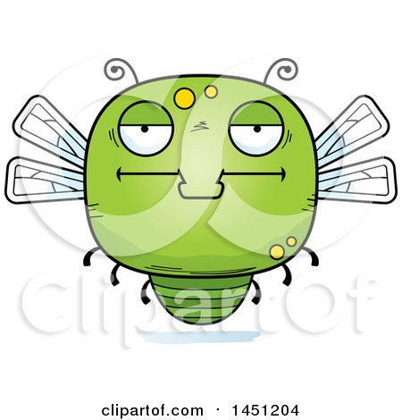 Clipart Graphic of a Cartoon Bored Dragonfly Character Mascot - Royalty Free Vector Illustration by Cory Thoman
