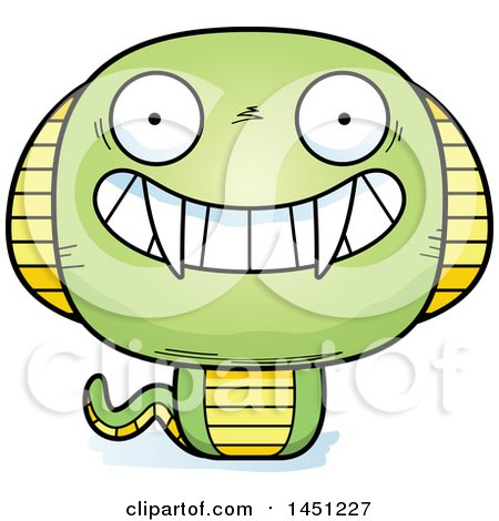Clipart Grumpy Cobra Snake - Royalty Free Vector ...