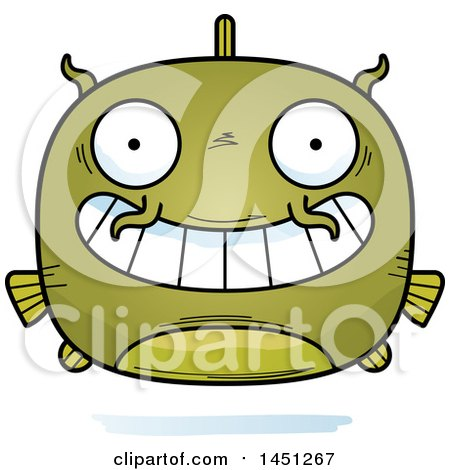 Clipart Graphic of a Cartoon Grinning Catfish Character Mascot - Royalty Free Vector Illustration by Cory Thoman