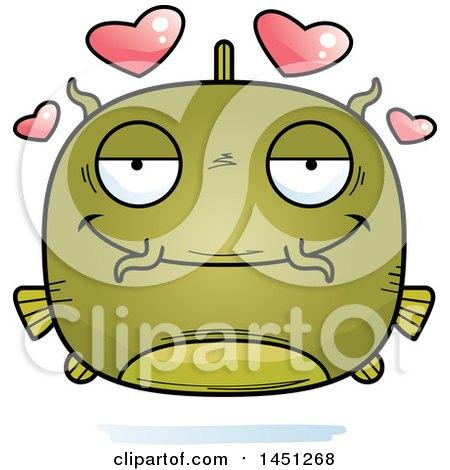 Clipart Graphic of a Cartoon Loving Catfish Character Mascot - Royalty Free Vector Illustration by Cory Thoman
