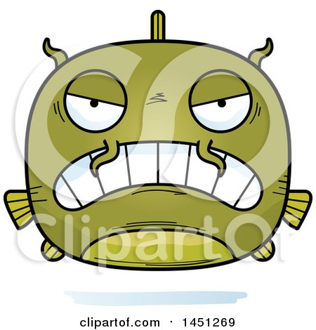 Clipart Graphic of a Cartoon Mad Catfish Character Mascot - Royalty Free Vector Illustration by Cory Thoman