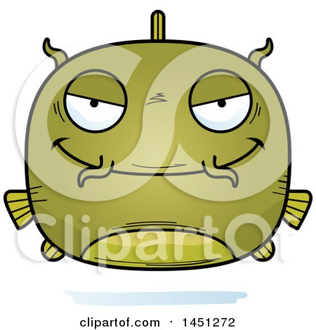 Clipart Graphic of a Cartoon Sly Catfish Character Mascot - Royalty Free Vector Illustration by Cory Thoman
