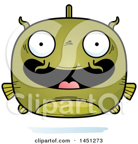 Clipart Graphic of a Cartoon Happy Catfish Character Mascot - Royalty Free Vector Illustration by Cory Thoman
