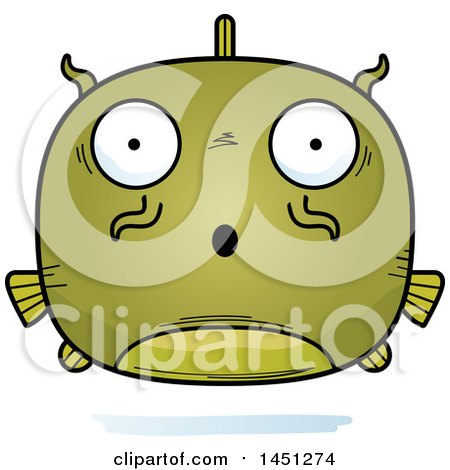 Clipart Graphic of a Cartoon Surprised Catfish Character Mascot - Royalty Free Vector Illustration by Cory Thoman