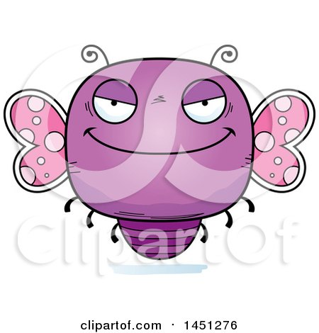 Clipart Graphic of a Cartoon Evil Butterfly Character Mascot - Royalty Free Vector Illustration by Cory Thoman