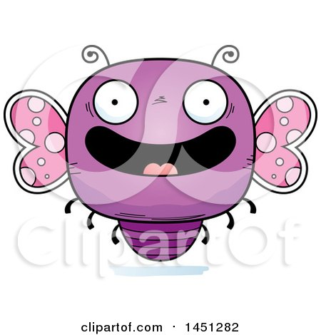 Clipart Graphic of a Cartoon Happy Butterfly Character Mascot - Royalty Free Vector Illustration by Cory Thoman