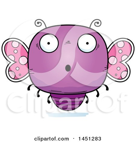 Clipart Graphic of a Cartoon Surprised Butterfly Character Mascot - Royalty Free Vector Illustration by Cory Thoman