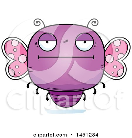 Clipart Graphic of a Cartoon Bored Butterfly Character Mascot - Royalty Free Vector Illustration by Cory Thoman
