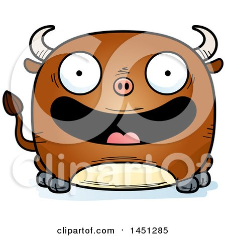 Clipart Graphic of a Cartoon Happy Bull Character Mascot - Royalty Free Vector Illustration by Cory Thoman