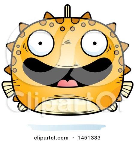 Clipart Graphic of a Cartoon Happy Blowfish Character Mascot - Royalty Free Vector Illustration by Cory Thoman
