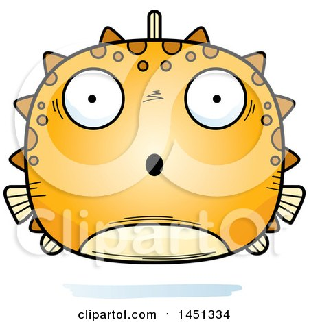 Clipart Graphic of a Cartoon Surprised Blowfish Character Mascot - Royalty Free Vector Illustration by Cory Thoman